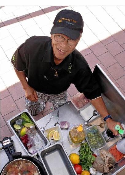 Muang Thai chef Charlie Tibkaeo cooks up a storm.