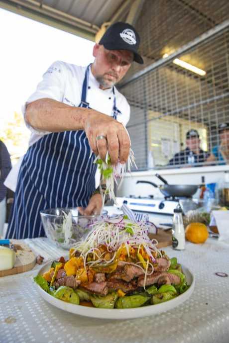 CELEBRITY CHEF: Matt Golinski prepares a dish at last year's Wetlands Weekend.