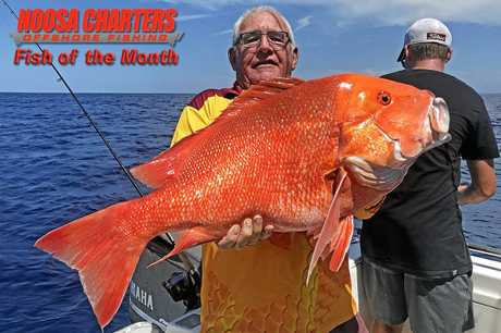 Gotcha - Dave Maybury from Yandina won the $200 Noosa Charters Fish of the Month prize with this red emperor which he boated on a Trekka 2 charter to Double Island Point.