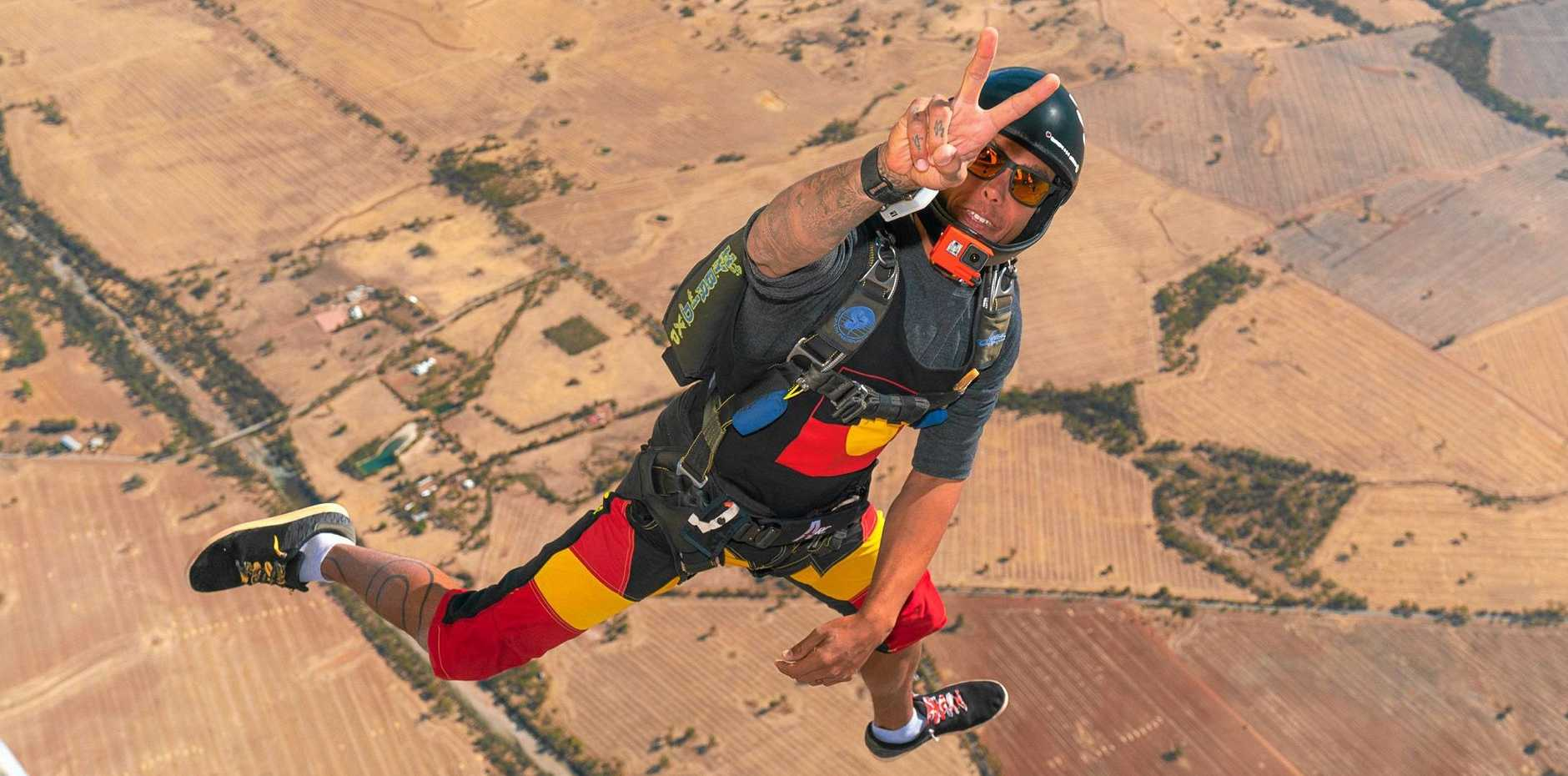 FREEFALLING: Proud indigenous Australian Marley Nolan-Duncan is deadly in the air.
