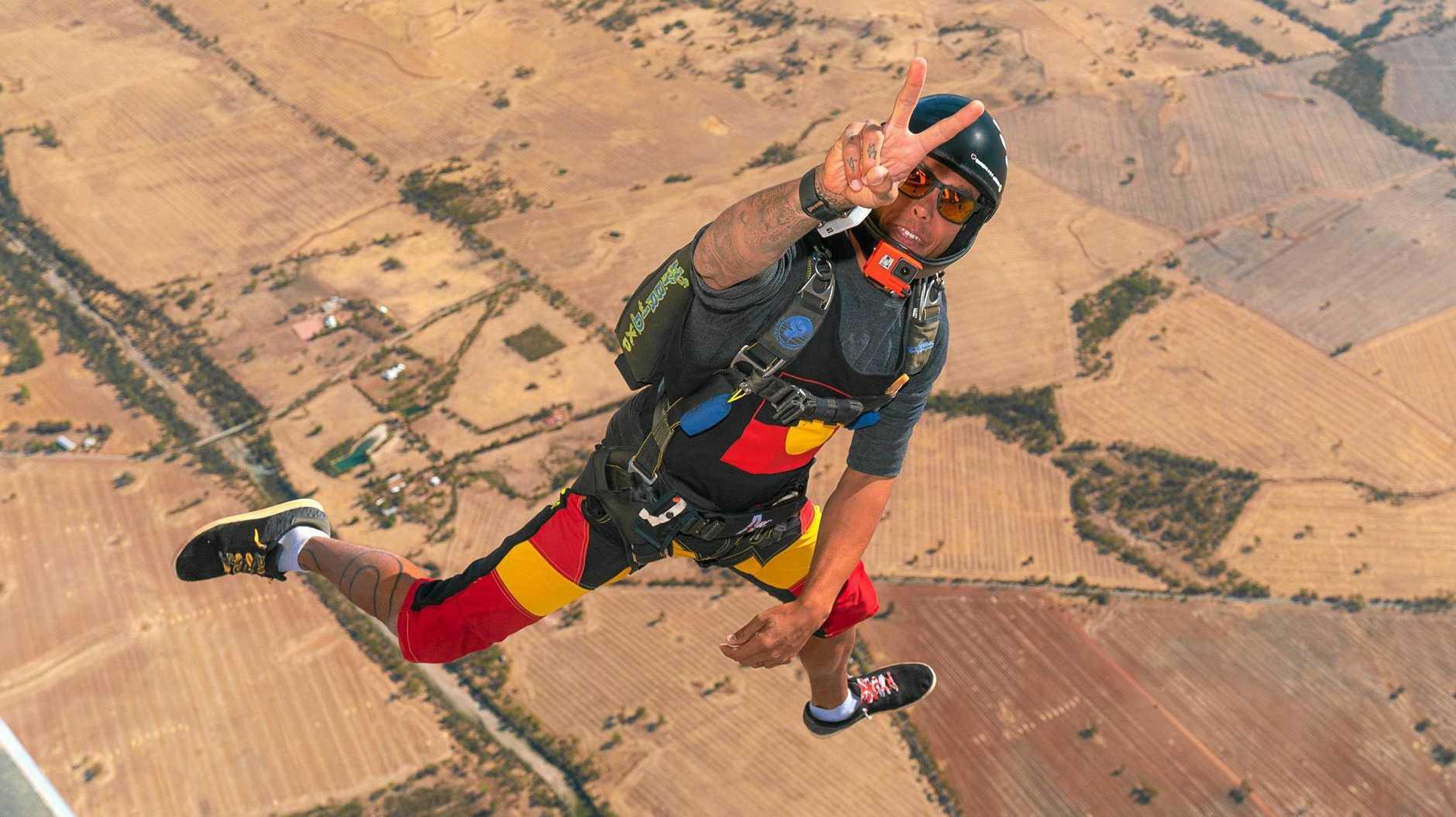 FREEFALLING: Proud indigenous Australian Marley Nolan-Duncan is deadly in the air.