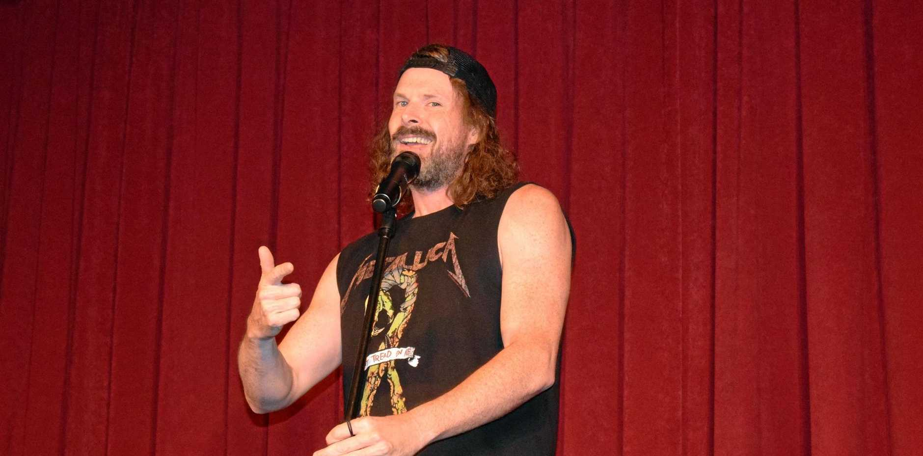 CROWD LAUGH OUT LOUD: Dave Williams at the Outback Comedy Gala in Tara.
