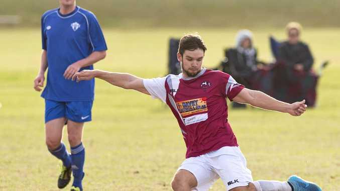 MAGIC TOUCH: Warwick Wolves player Matt Carey has been in prime form to start the football season, scoring six goals.