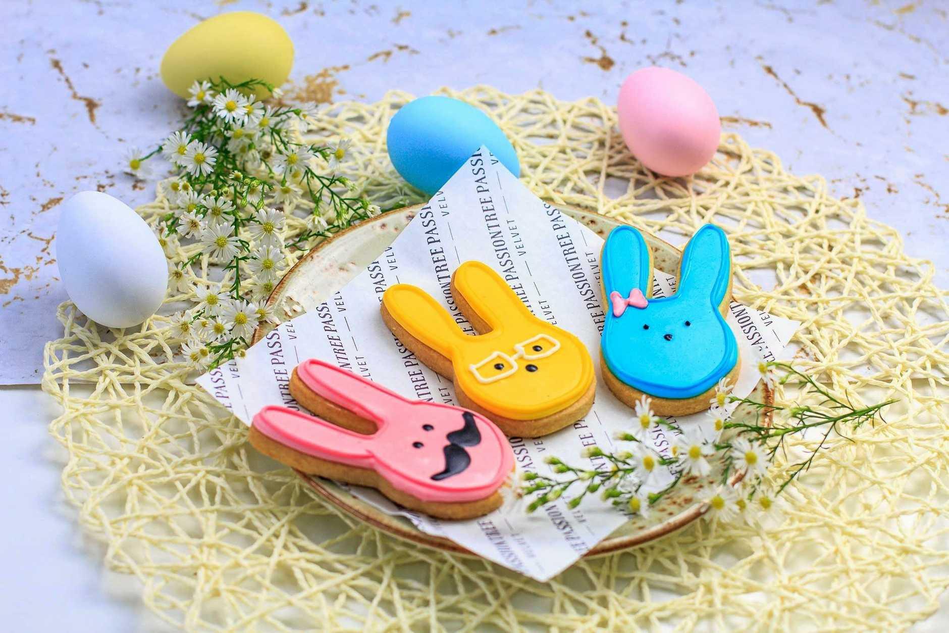 Easter treats around Toowoomba: Bunny cookies from Passiontree Velvet.