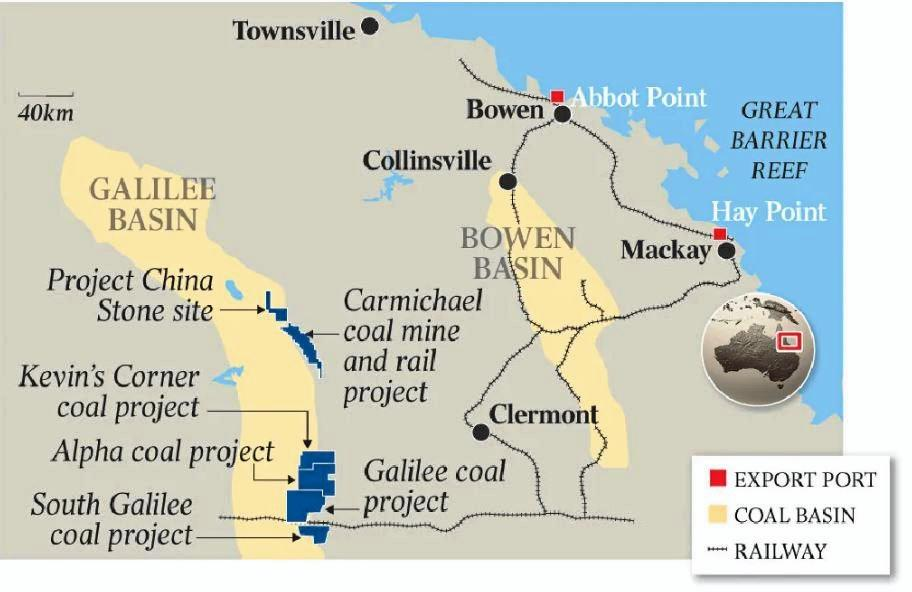 If adani goes ahead it will open  up a massive, untapped coal province.