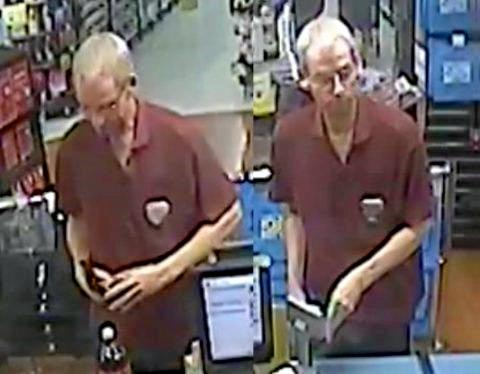 Police have released CCTV images of Mr Moulder inside a supermarket on the day of his disappearance.