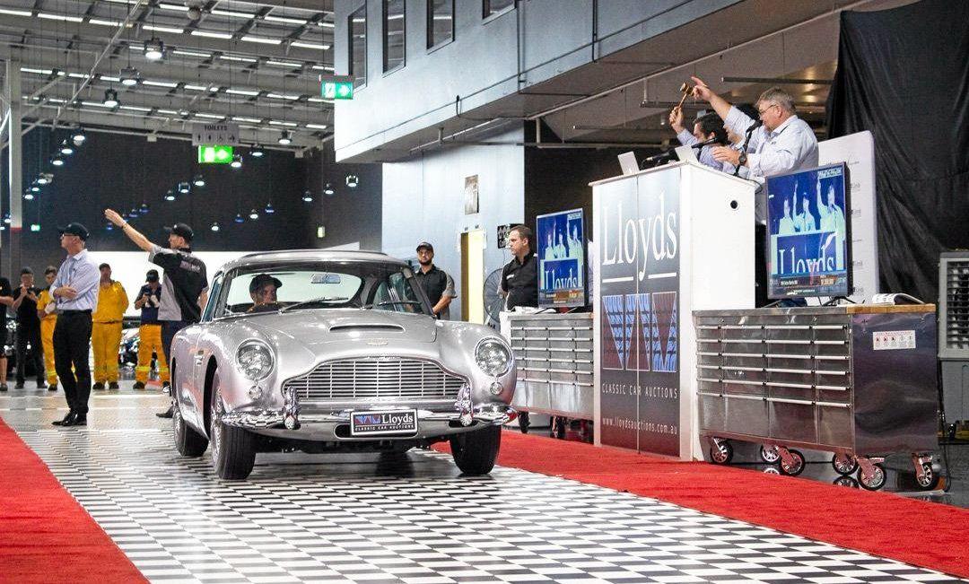 This Aston Martin DB5 sold for $1.55 million.
