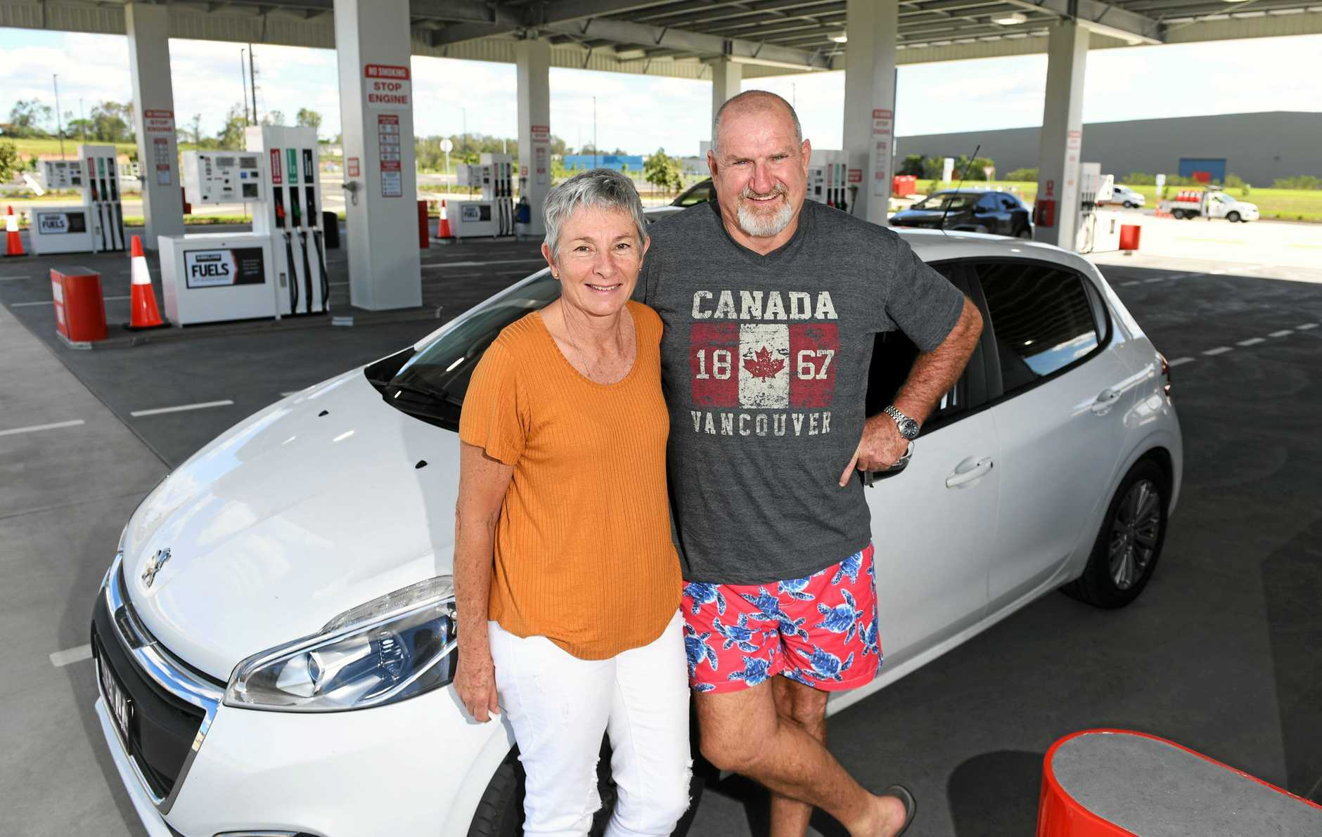 Janet and Dave Hines from Eastern Heights fill up at the new Costco service station.