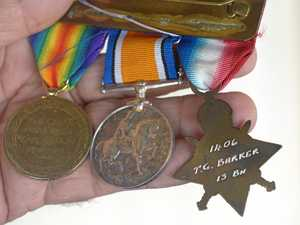 Barker's WWI medals in safe hands