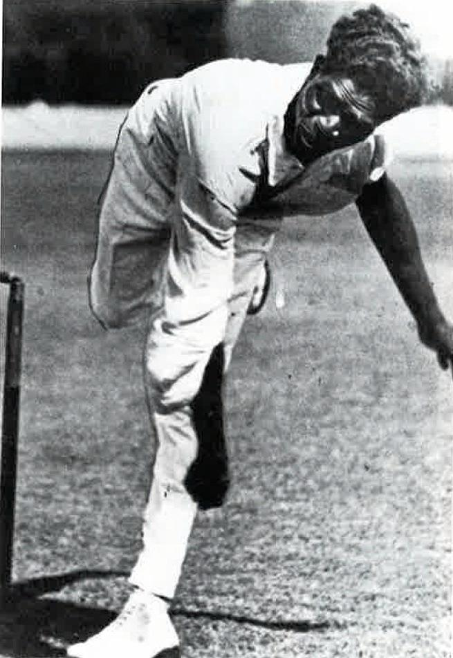 Eddie Gilbert was able to send down deliveries at a blistering speed. He dismissed the great batsman, Sir Donald Bradman, but he never played for Australia.