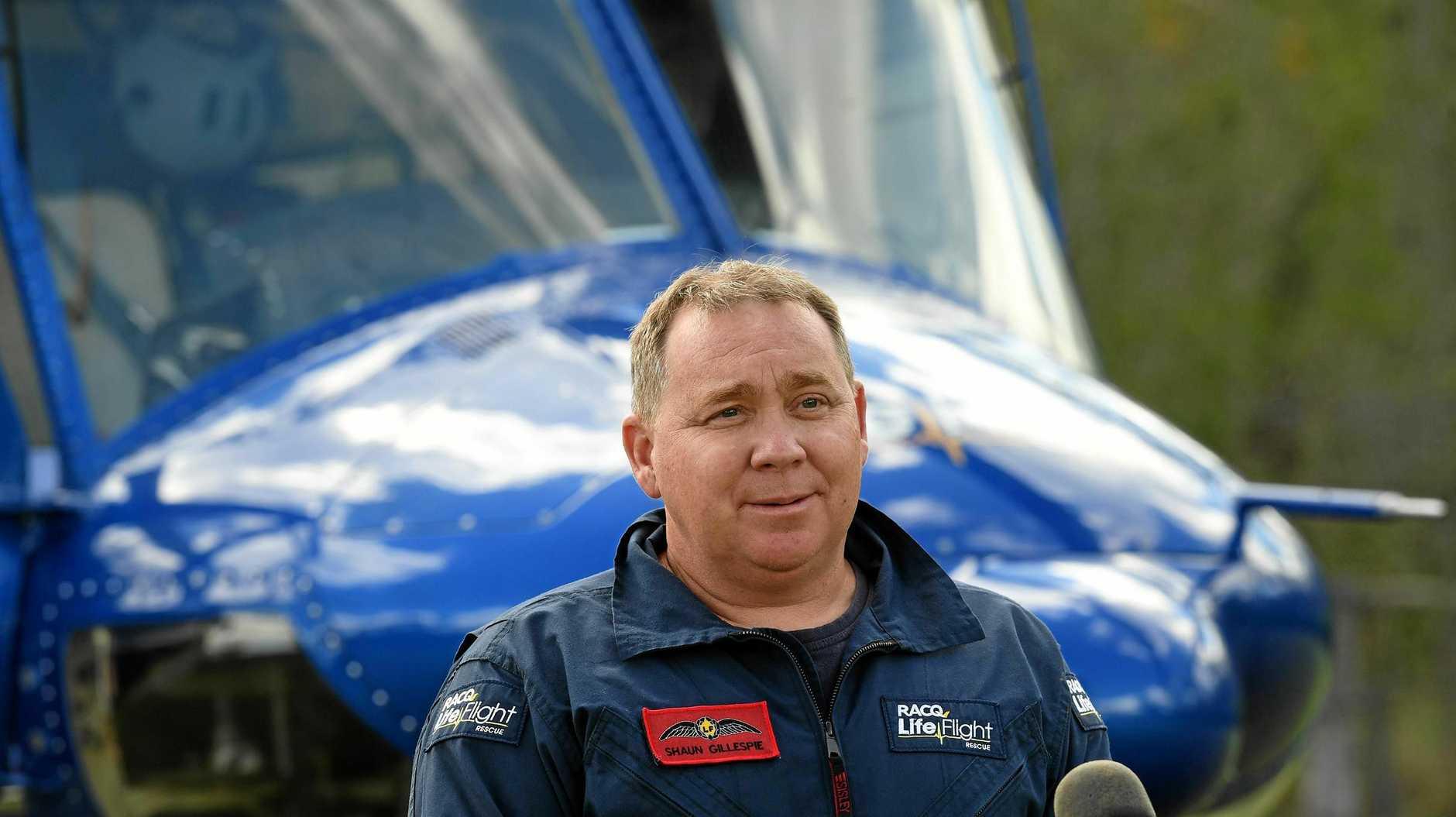 LifeFlight pilot Shaun Gillespie.