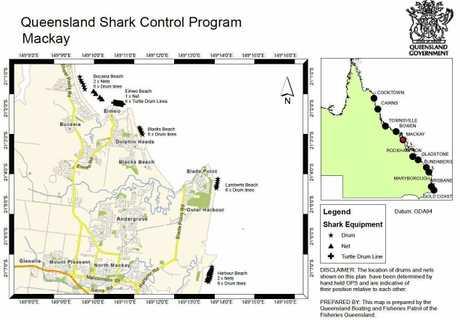 Queensland Shark Control Map