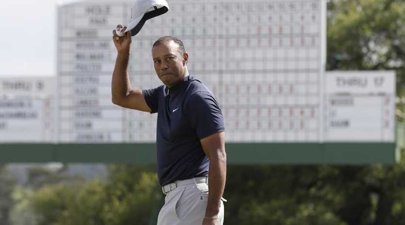 Tiger Woods was brilliant on the back nine. Picture: AP