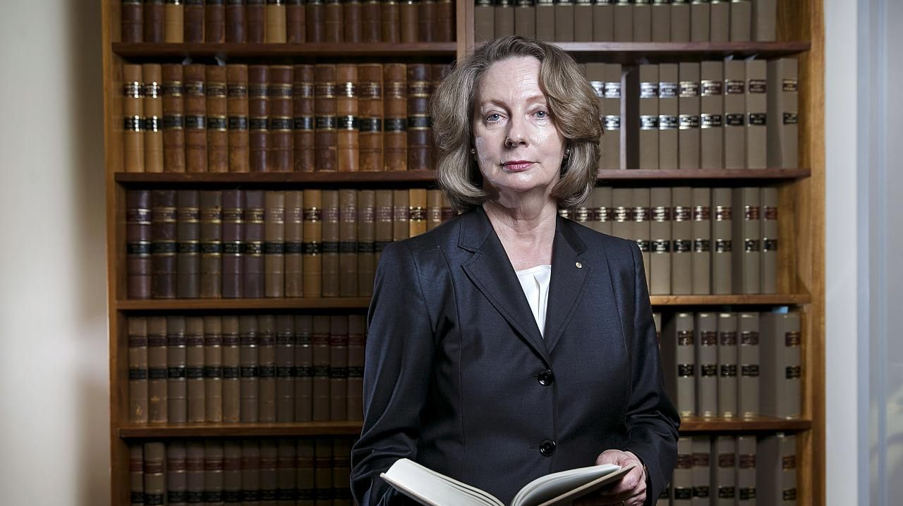 Justice Susan Kiefel photographed here in her Brisbane office. Justice Kiefel will become Australia's first female Chief Justice of the High Court. Pictures: Jack Tran ###WARNING###NOT FOR ONLINE USAGE###