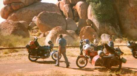 The last known picture of the group, taken by a tourist when they stopped at Devils Marbles.