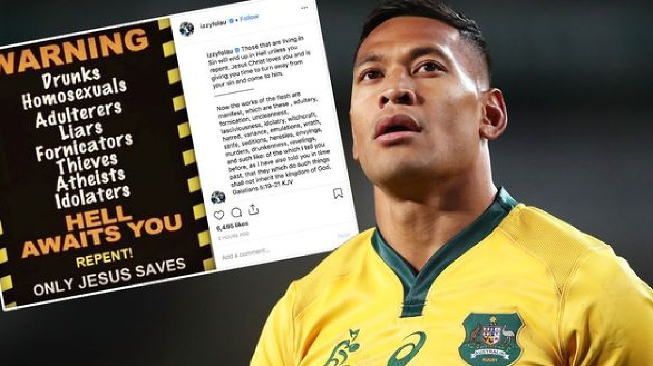 Israel Folau is facing a huge backlash following this post.
