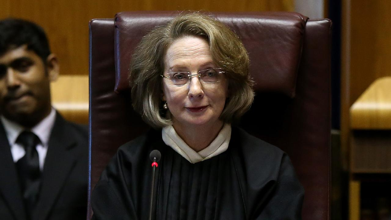 Chief Justice of the High Court of Australia Susan Kiefel after being sworn in. At the High Court of Australia in Canberra. Picture Kym Smith