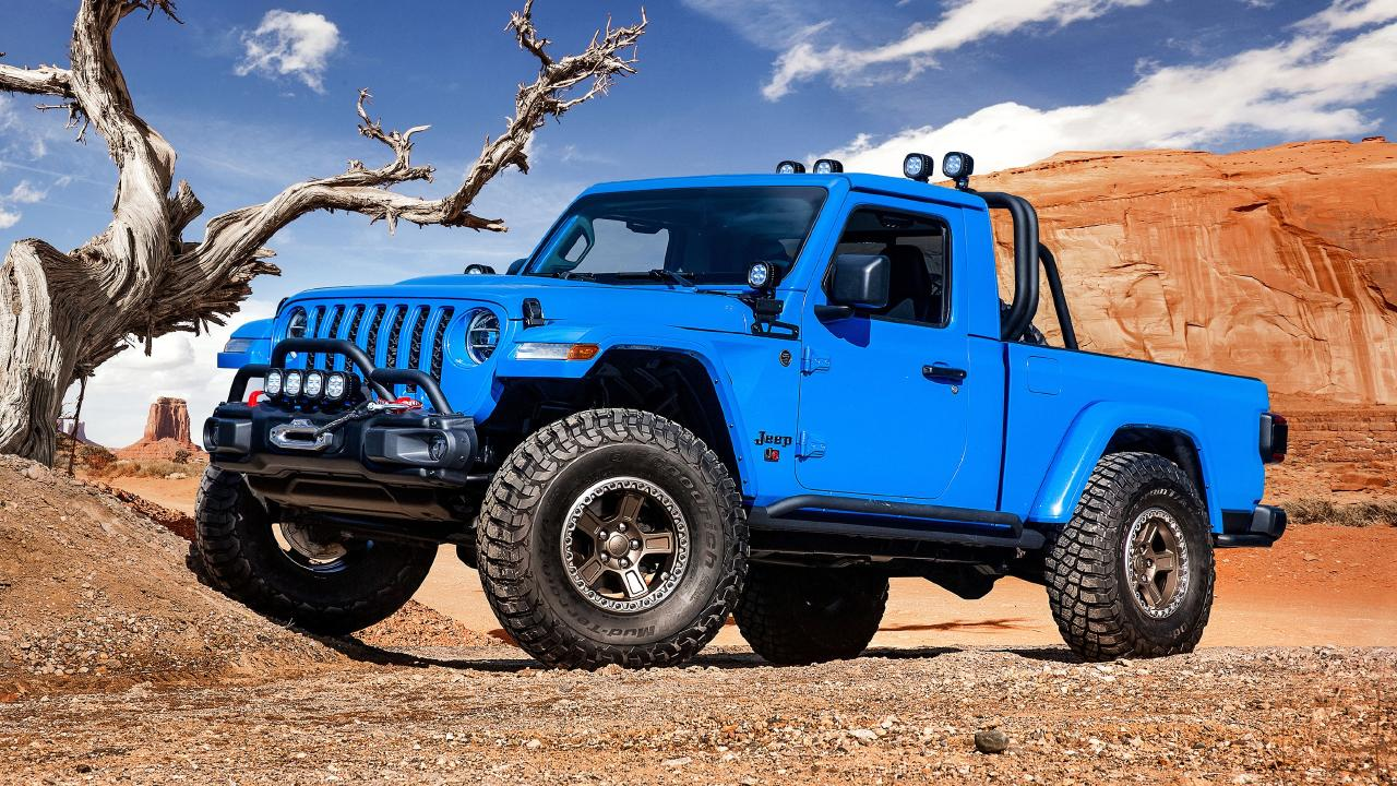 Jeep's two-door J6 Gladiator concept.
