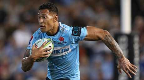 Israel Folau might not be seen in a Waratahs jersey again. Picture: AAP