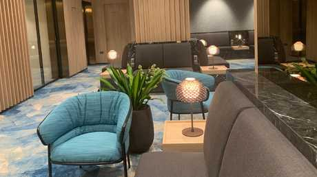 Inside Changi Airport lounge that is open to any class of passenger.