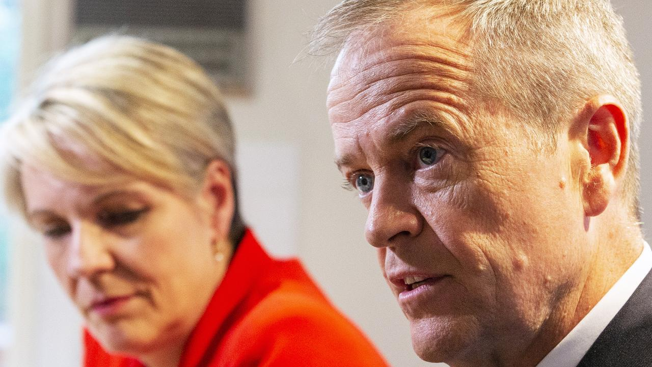 Deputy Labor Leader Tanya Plibersek with Bill Shorten. Picture: AAP/Daniel Pockett