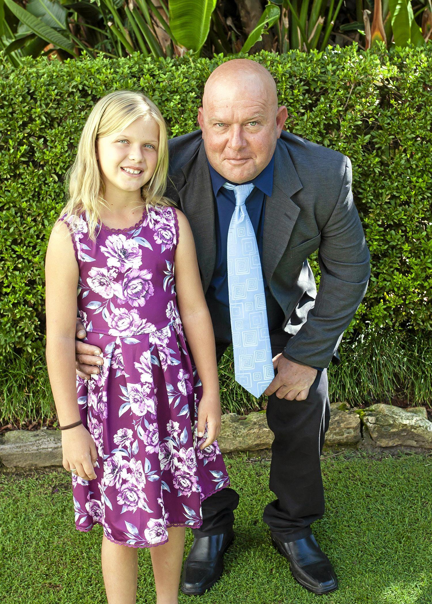 HERO: Daniel MacFarlane with his eight-year-old daughter Sienna.