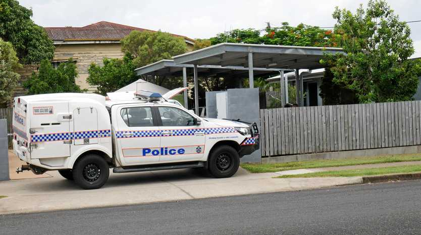 MURDER CASE: Detectives investigate reports of a stabbing on Alice St, Pialba in January.