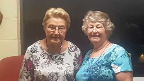 Kate Edwards is congratulated by Chief Steward for the Gympie Show Cookery section, Anne Long, for her many years of dedicated service to The Gympie Show.