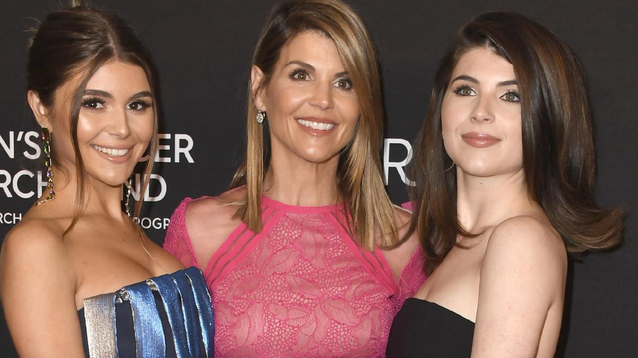 Olivia Jade Giannulli, Lori Loughlin and Isabella Rose Giannulli have been implicated in a college admission scandal. Picture: Frazer Harrison