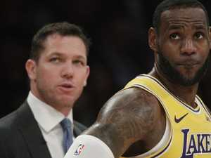 Time's up: Lakers split with coach