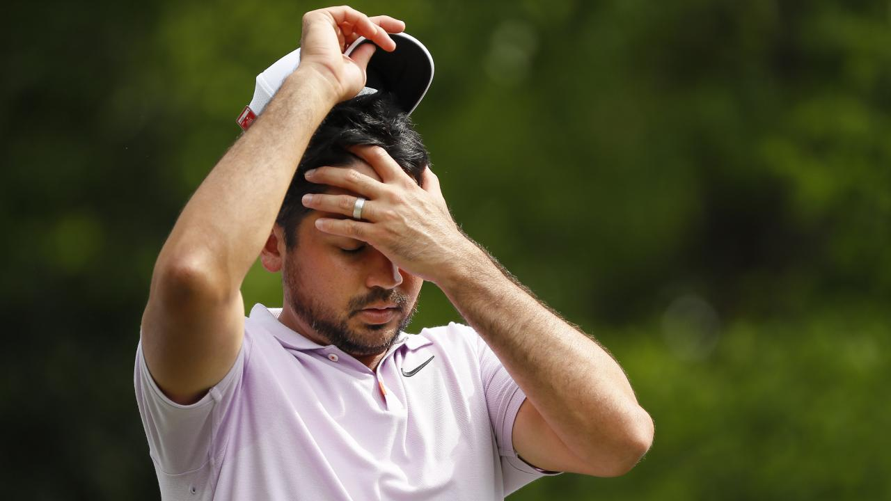 Jason Day is 14 shots off the pace. Picture: Kevin C Cox/Getty