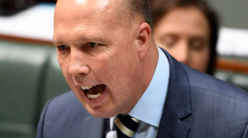 Peter Dutton speaks during Question Time in the House of Representatives. File picture