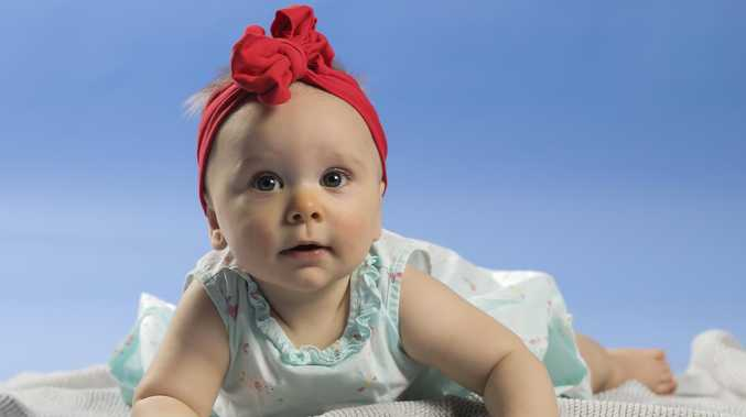 Six-month-old baby Annabelle, who was born with the help of her aunty. Picture: Mark Cranitch