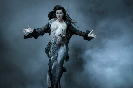Milla Jovovich in a scene from the movie Hellboy.