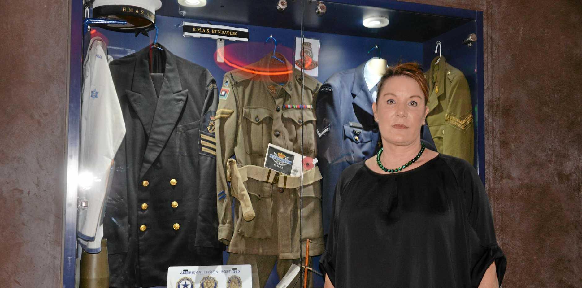 TRIBUTE: Cr Helen Blackburn said it was an honour to help celebrate 100 years of the Bundaberg RSL sub-branch.