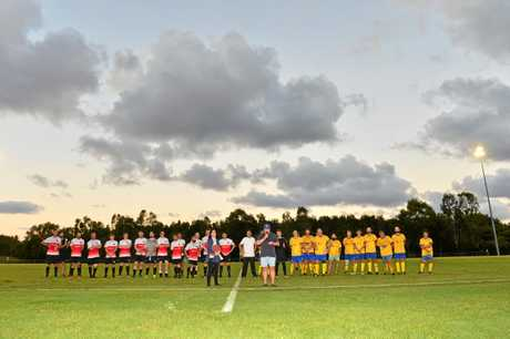 Soccer match between Caloundra and Kawana to honour Lachlan Wells. Lachlan's Aunty Kristine Hanna .