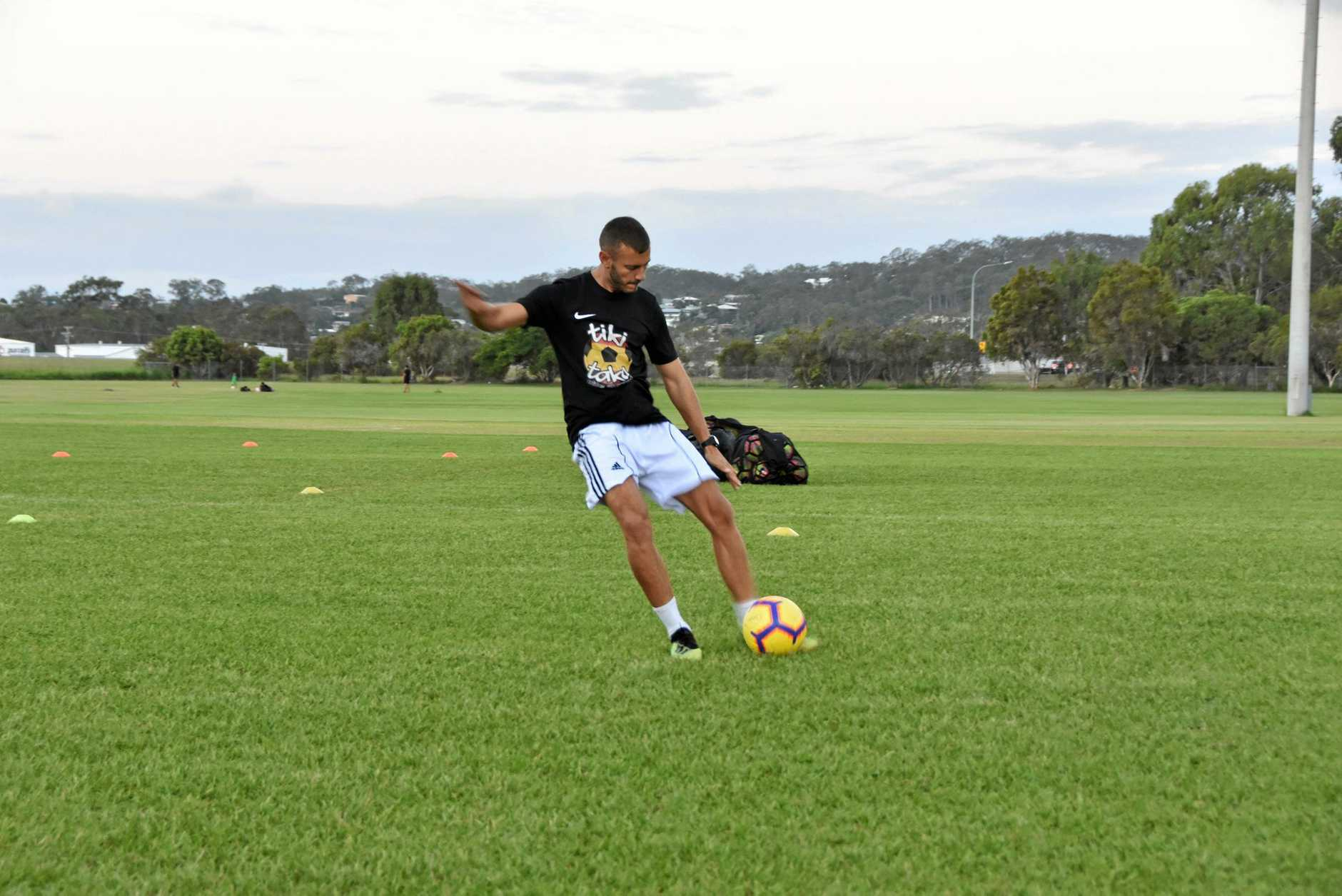 CHILDHOOD STAR: Former Real Madrid youth player JC Hernandez held a professional training clinic at Clinton Oval at the weekend.