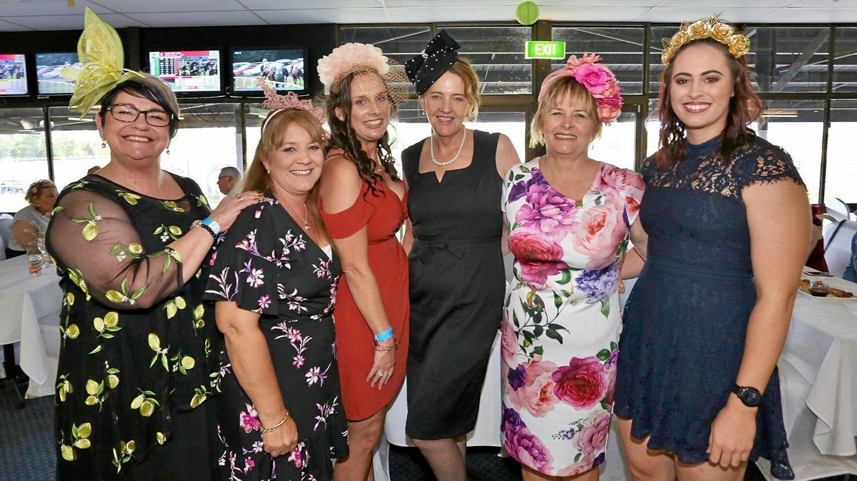 L-R Irene Oliver, Lynda Richards, Rachel Reabel, Teresa Lam, Donna Berg and Nicola Berg at the 2019 DLV Finance 2yo Classic Race Day.