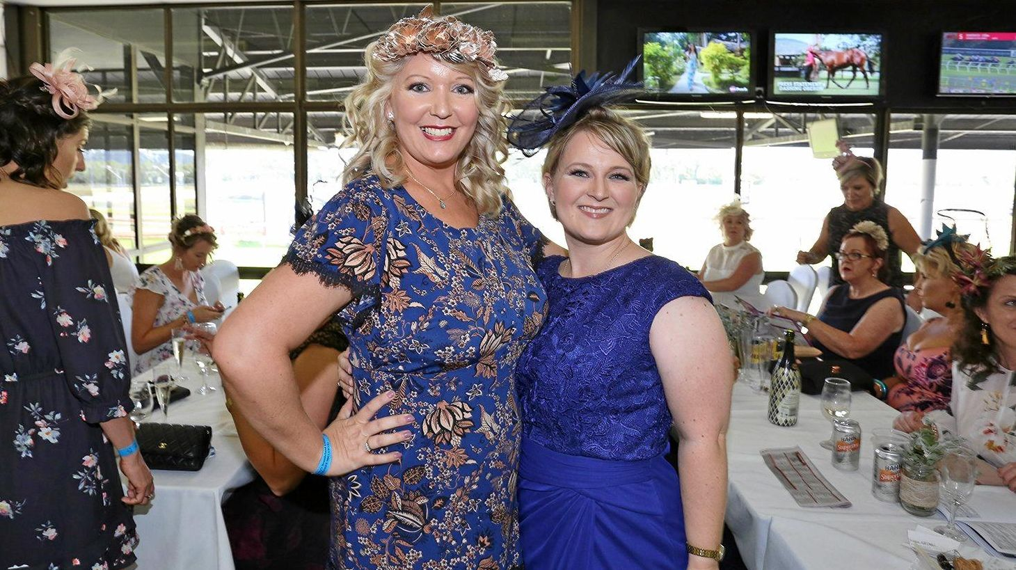 YEARLING SALE: L-R Kelly Hutton and Karyn Redmountain at the 2019 DLV Finance 2yo Classic Race Day.
