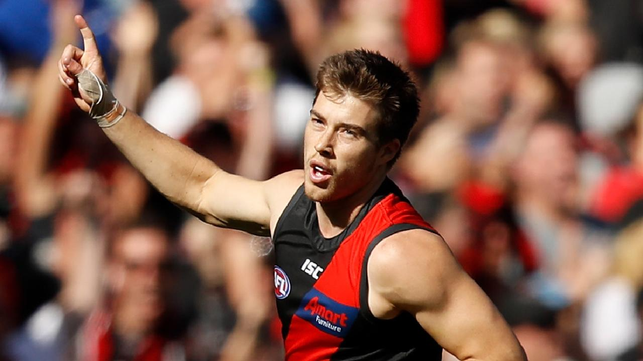 Zach Merrett has found form in the past two weeks for Essendon. Picture: Dylan Burns/AFL Photos/Getty Images.