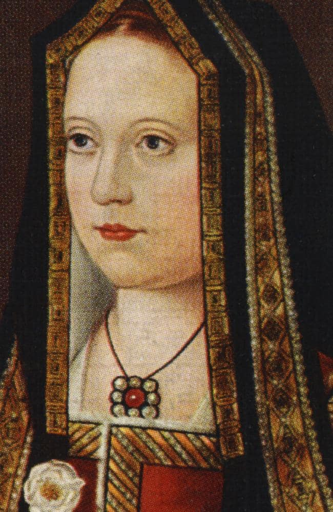 Elizabeth of York portrait (1465 - 1503). Elizabeth was the sister of the Princes in the Tower and eldest daughter of Edward IV. Her uncle proposed to marry her, but she married Henry Tudor to end the War of the Roses.