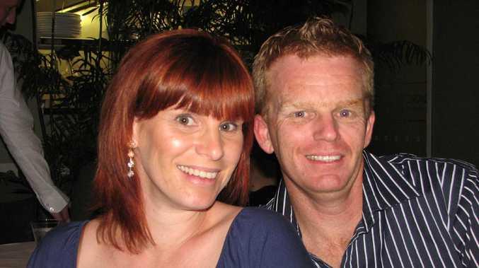 Damian Leeding with wife Sonya.