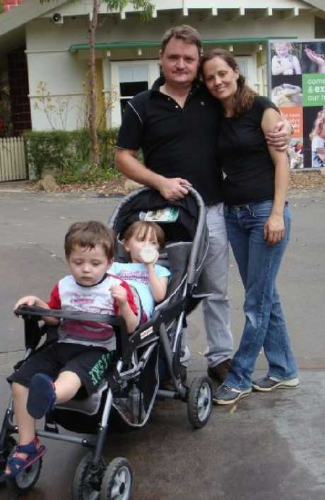 Fernando, Maria and kids Martin and Elisa in happier times. Source: Facebook