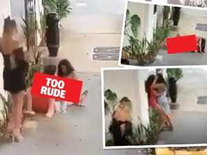 Bizarre end to women's public romp