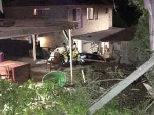 Car slams into homes during drunken drag race