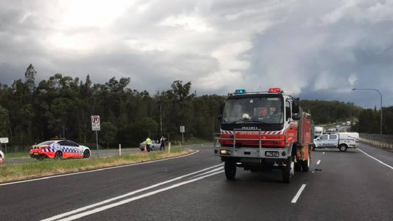 A major emergency response attended the crash. Picture: Facebook/NACRFS