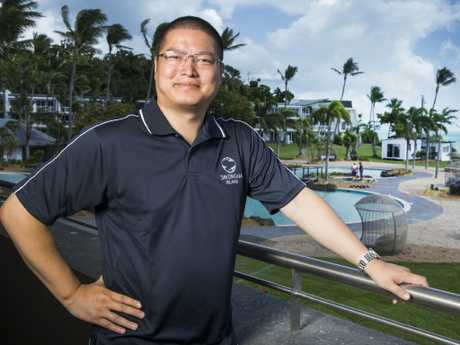 Daydream Island general manager Dawson Tang. Picture: Lachie Millard