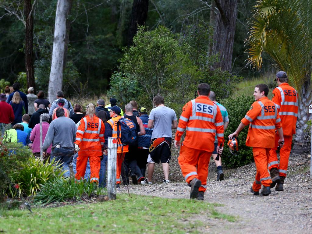Hundreds of people joined in the search for missing William which stretch on for days in and around the town of Kendall, NSW.