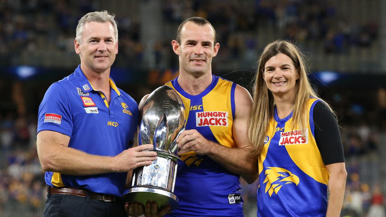 Shannon Hurn was crowned the Ross Glendinning medallist for his stellar performance in the western derby. Picture: Paul Kane/Getty Images.
