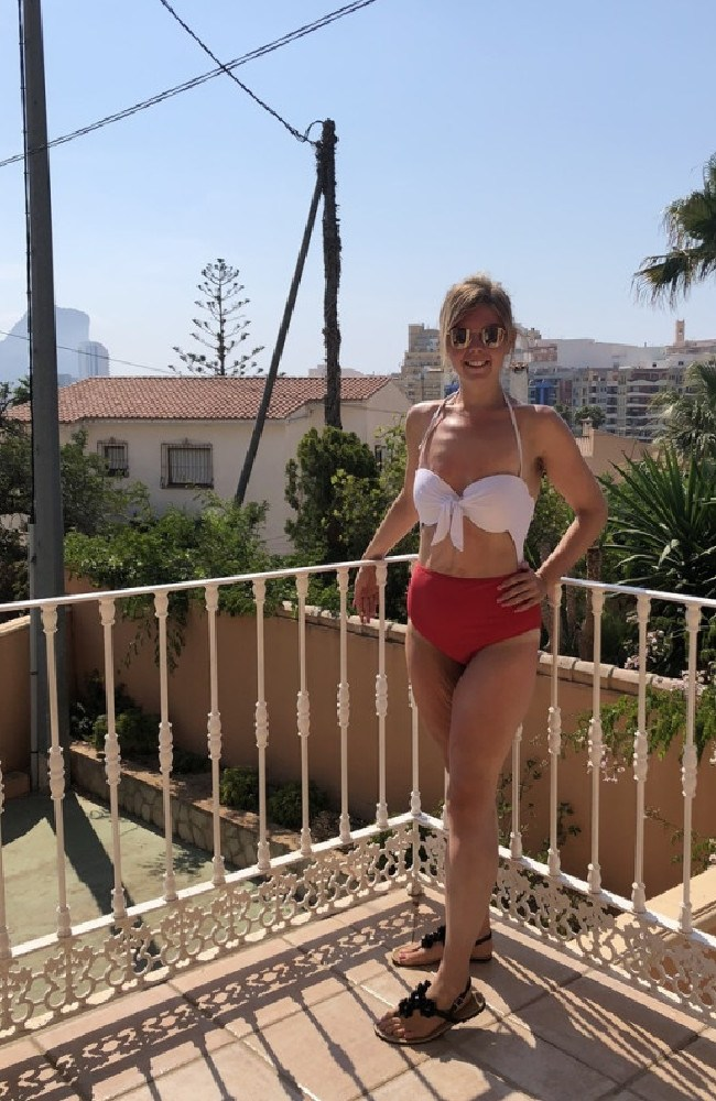 For the first time in her life, she was able to wear a bikini — and a size 8 one at that. Picture: Slimming World
